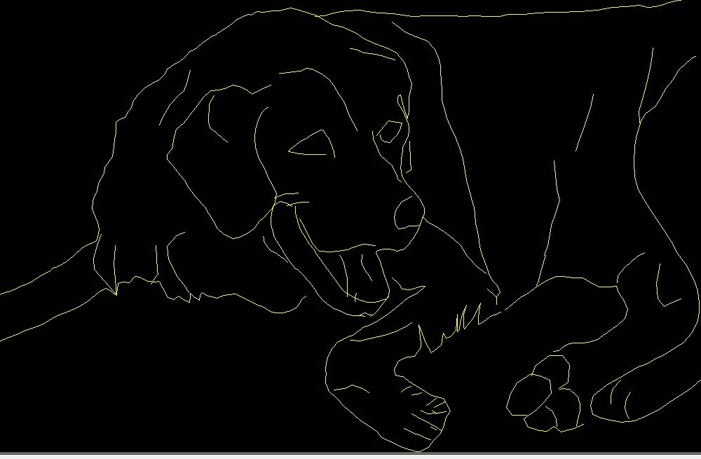 Dog Pet Animal Side View Elevation 2D DWG Block For