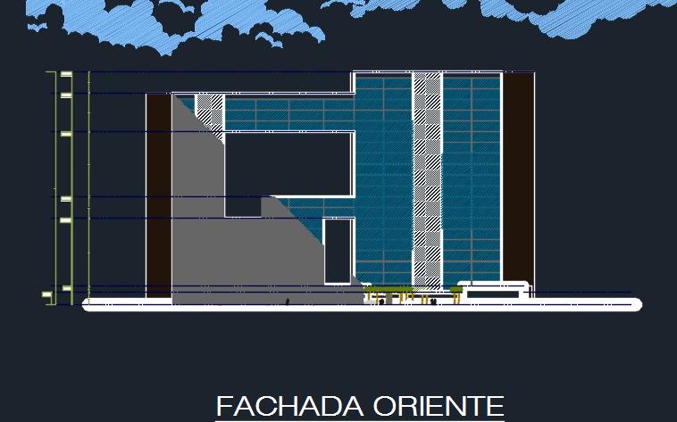 Five Star Modern Hotel 2D DWG Design Elevation for AutoCAD