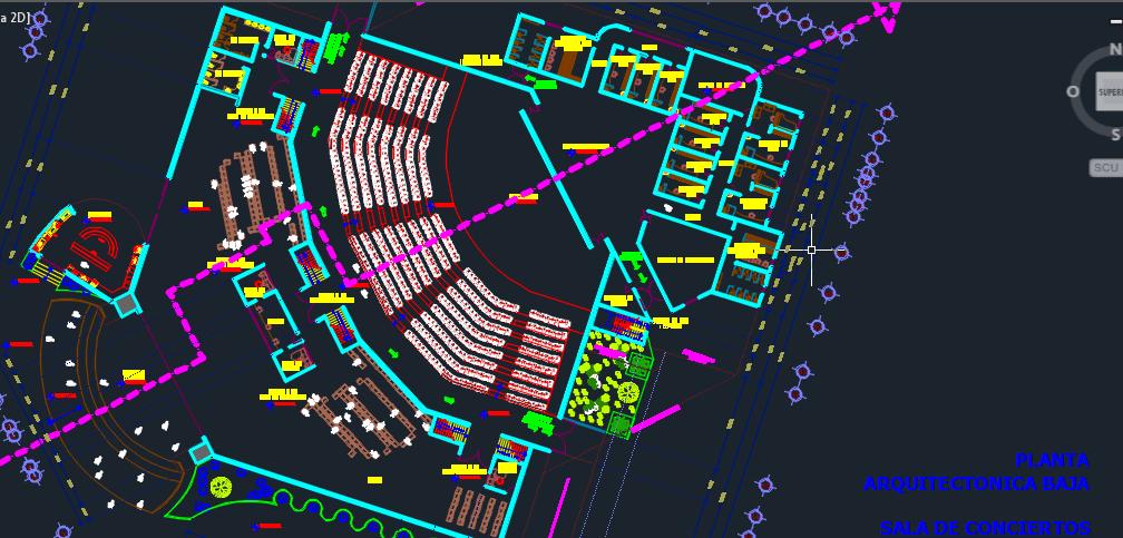 3d Electrical Plan Auditorium For Events 2d Dwg Design Block For Autocad