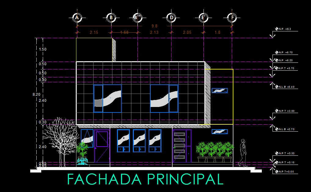 House with Garden and Garage 2D DWG Plan for AutoCAD