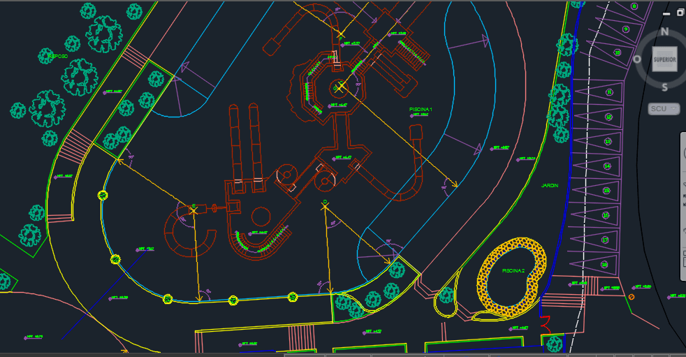 Water Park 2D DWG Design Plan For AutoCAD • DesignsCAD
