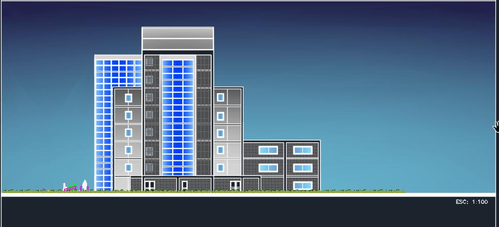 3 Stars Hotel 2D DWG Design Elevation for AutoCAD