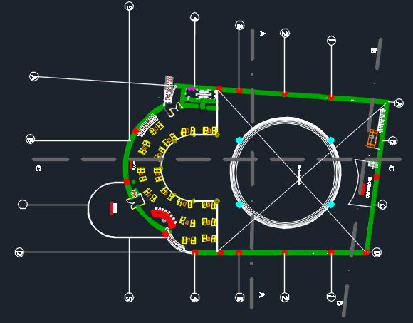 Nightclub Bar Amp Disco 2d Dwg Design Plan For Autocad