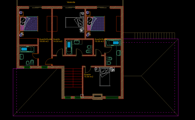 Small House With Garden 2d Dwg Plan For Autocad Designs Cad