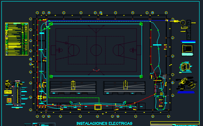 Mini Sports Complex 2D DWG Design Full Project for AutoCAD