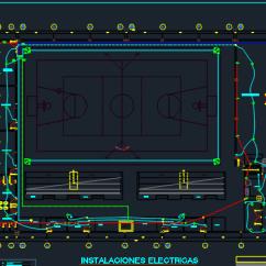 Kitchen Floor Designs Beadboard Cabinets Mini Sports Complex 2d Dwg Design Full Project For Autocad ...