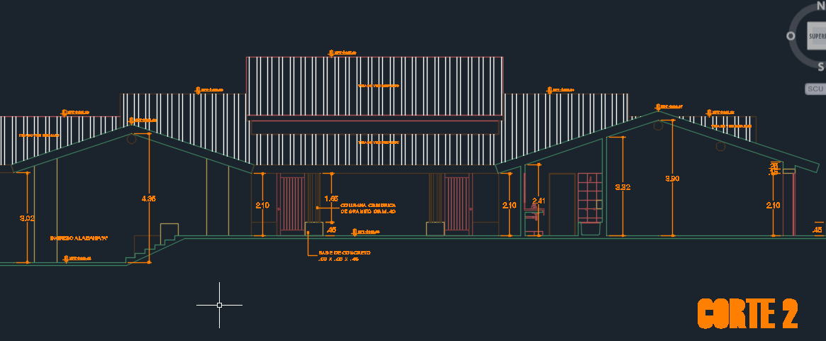 Apart Hotel With Floor Plans And Surface 2D DWG Section