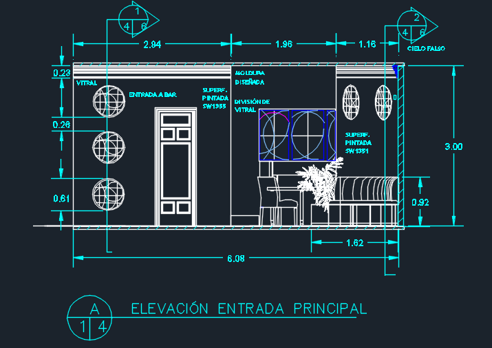 Italian Restaurant With Floor Plans 2D DWG Design Section