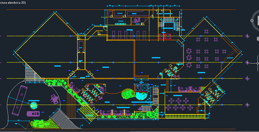 Luxury Hotel With Pool And Parking 2D DWG Design Plan for AutoCAD  Designs CAD