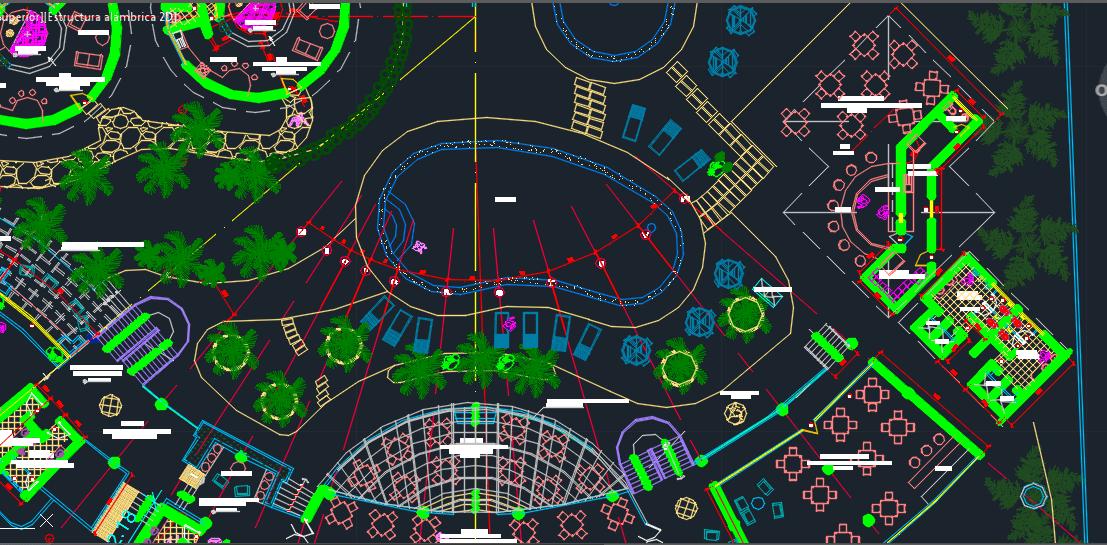 Beach Resort with Restaurant 2D DWG Design Plan for AutoCAD  Designs CAD