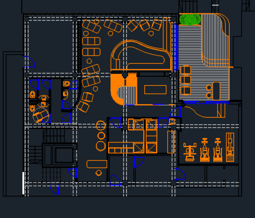 beauty salon waiting area chairs rod iron spa center with pool and furniture 2d dwg design plan for autocad • designs cad