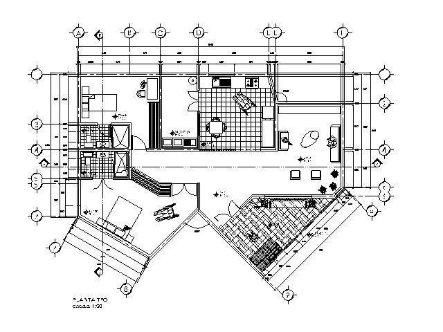 Senior Care Center 2D DWG Plan for AutoCAD • Designs CAD