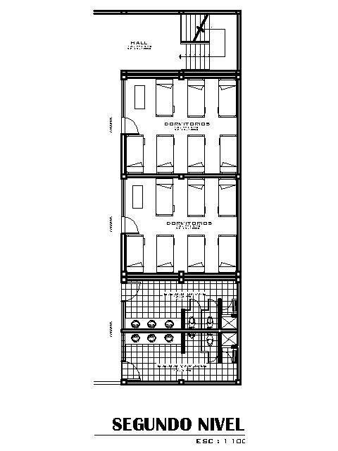 Children Hostel, Infantile Hostel 2D DWG Plan for AutoCAD