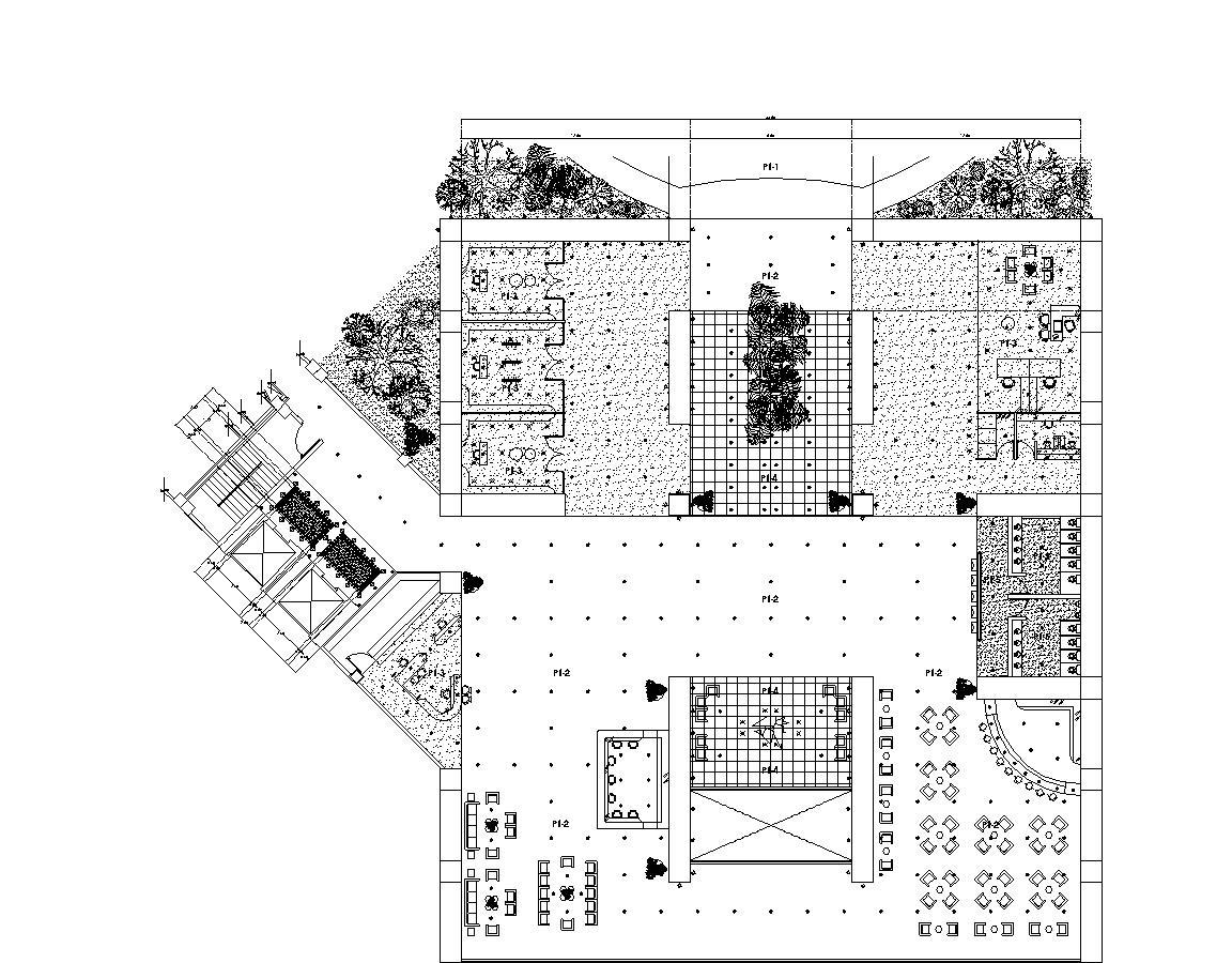 Convention Center, Hotel 2D DWG Plan for AutoCAD