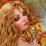 вышивка тигра схема