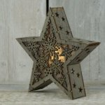 Star Light Lamp Laser Cut Free Vector