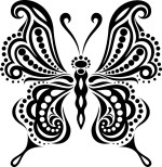 Butterfly Tattoo Free Vector Free Vector