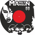 Laser Cut Marilyn Manson Vinyl Record Wall Clock Free Vector