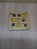 Laser Cut Tic Tac Toe Game Board DXF File