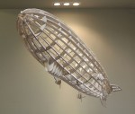 Laser Cut Airship Model for Home Decor Template Free Vector