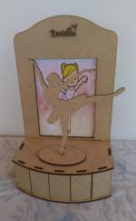Laser Cut Ballerina On Stage Plywood DXF File