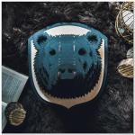 Laser Cut Bear Head Animal Trophy Wall Art Free Vector