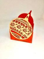 Laser Cut Christmas Ornament Shape Organizer Free Vector