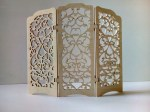 Laser Cut Decorative Folding Screen DXF File