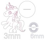 Laser Cut Unicorn Napkin Holder DXF File