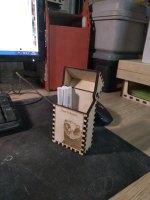Laser Cut Wood Cigarette Case Cigarette Box Free Vector