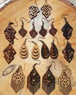 Laser Cut Wooden Jewelry Earrings Templates Free Vector