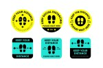COVID-19 Social Distancing Keep Your Distance Signs DXF File