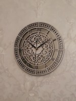 Laser Cut Carved Clock Free Vector