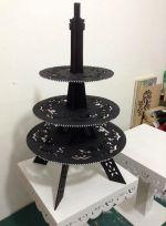 Laser Cut Eiffel Tower Candy Buffet Cupcake Stand Free Vector
