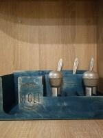 Laser Cut Kitchen Restaurant Organizer Salt Pepper And Tissue Holder 3mm Free Vector