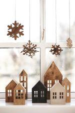 Laser Cut Miniature House Lantern Free Vector