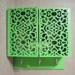 Laser Cut Wall-Mounted Key Cabinet DXF File