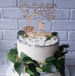 Laser Cut Wedding Cake Topper Free Vector