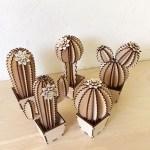Laser Cut Wood Cactus Decor Free Vector