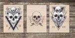 Laser Engraving Skull Art Free Vector