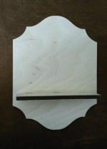 Laser Cut Candle Shelf Free Vector