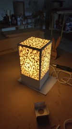 Laser Cut Decorative Night Light Lamp Free Vector