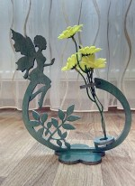 Laser Cut Fairy Flower Holder Flower Stand Free Vector