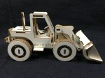 Laser Cut Wooden Toy Bulldozer DXF File