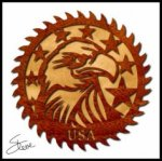 Patriotic Saw Blade Scroll Saw Pattern PDF File