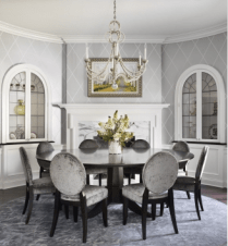 Very chic dining room
