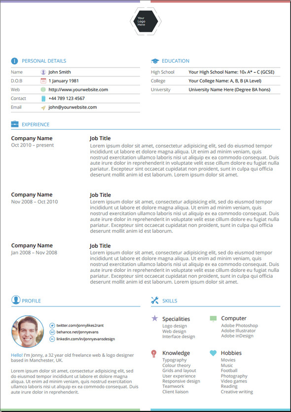 awesome resume templates psd