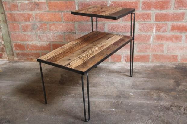 Hairpin legs table home design ideas diy hairpin leg side table watchthetrailerfo