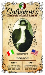 Salvatori's previous menu cover