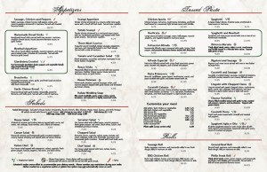 Salvatori's menu pages 1-2